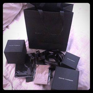 Other - Bundle - David Yurman 3 boxes, Ribbon, Bag, Cloth